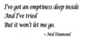 Emptiness deep inside copy