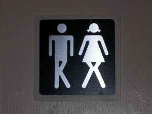 peeing sign